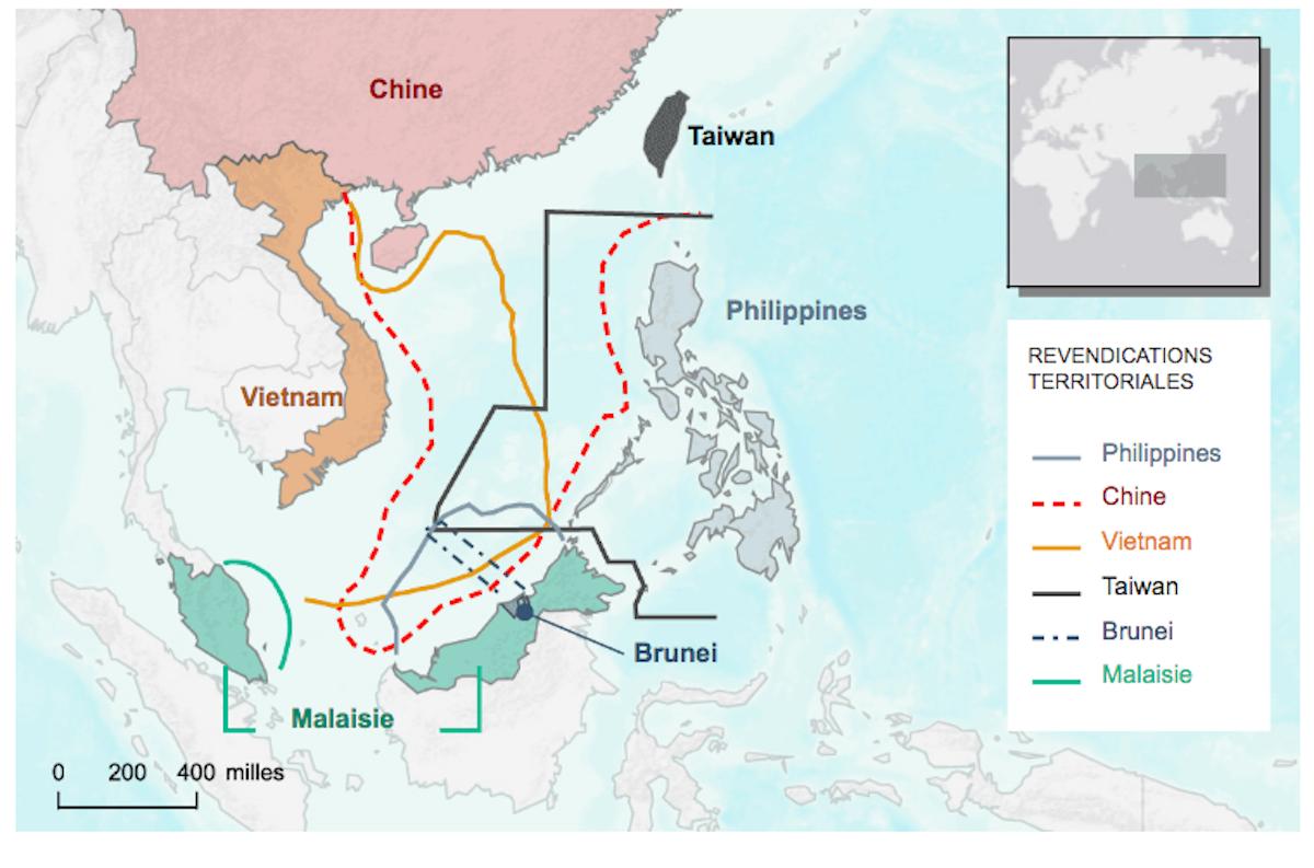 Carte Chine Philippines.Carte Mer De Chine Et 9 Traits Chinois Asie Pacifique News