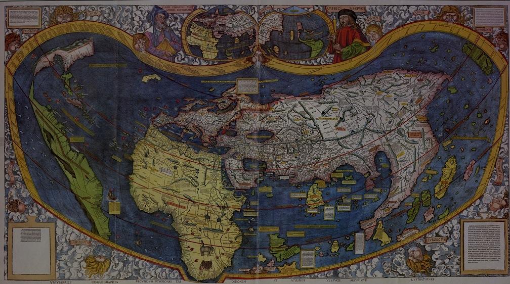 Ancienne Carte du monde - waldseemuller