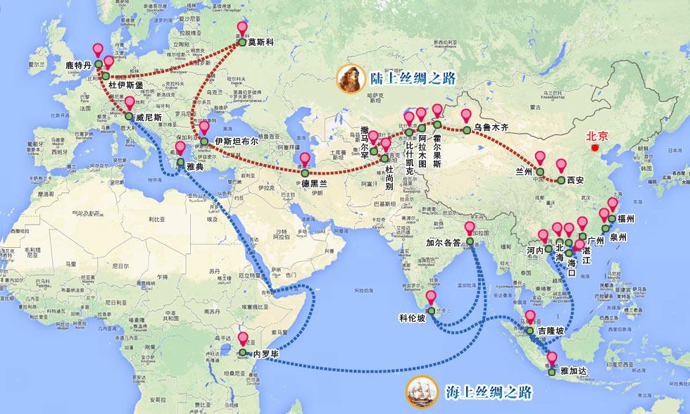 Nouvelle route de la soie Chine