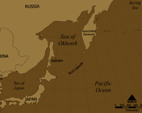 Carte îles Kouriles Japon Russie. Copyright : By No machine-readable author provided. NormanEinstein assumed (based on copyright claims). - No machine-readable source provided. Own work assumed (based on copyright claims)., CC BY-SA 3.0, https://commons.wikimedia.org/w/index.php?curid=385863