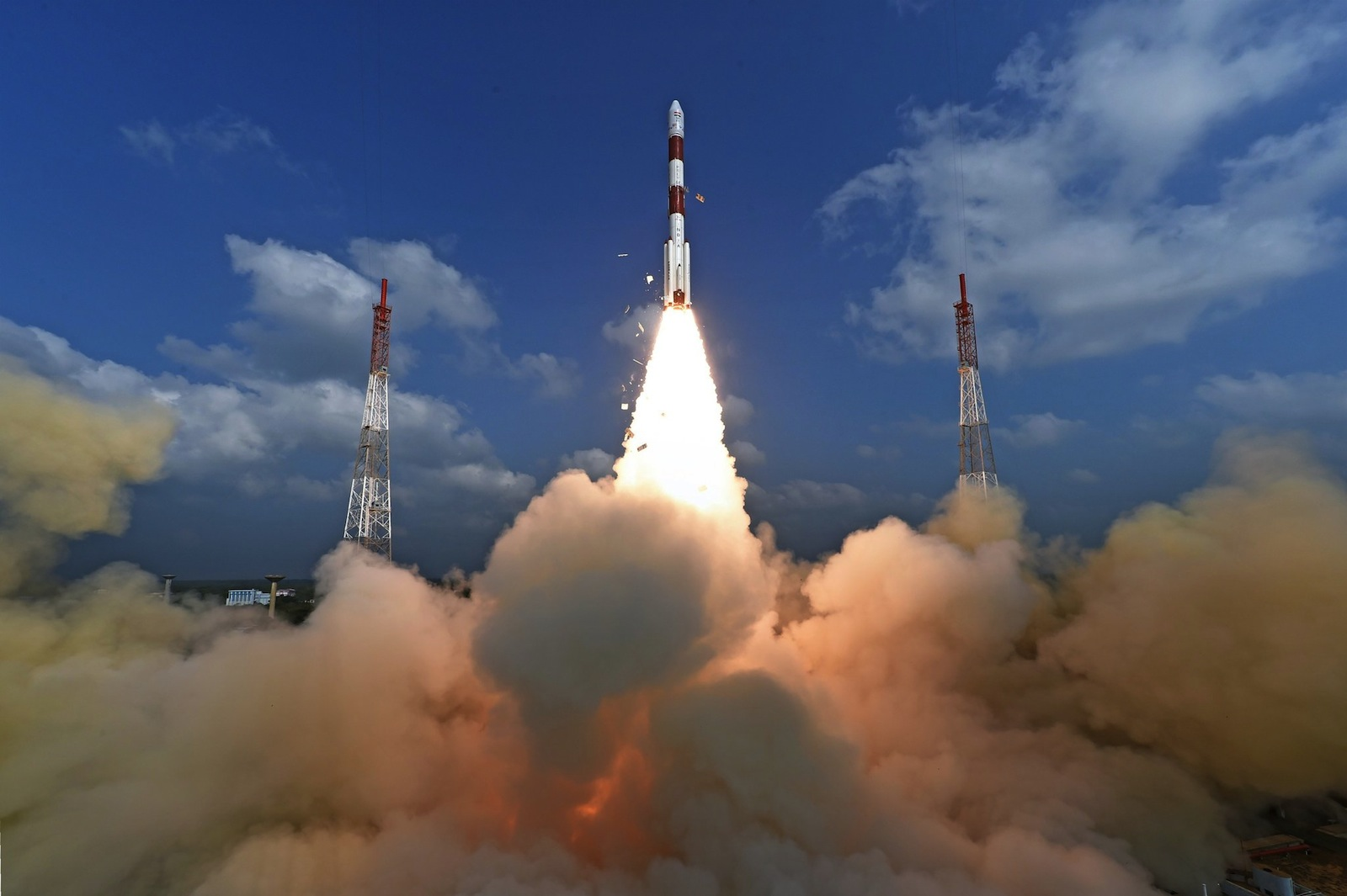 Inde : Lancement des satellites — Photo © Agence spatiale indienne.
