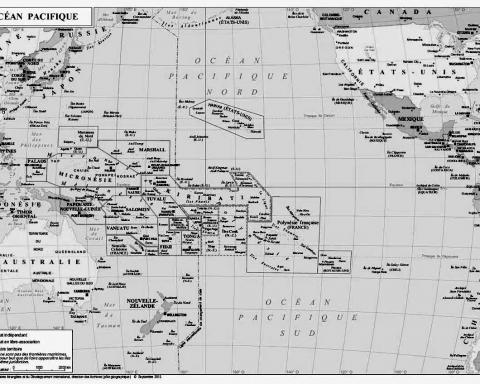 Carte Océan Pacifique