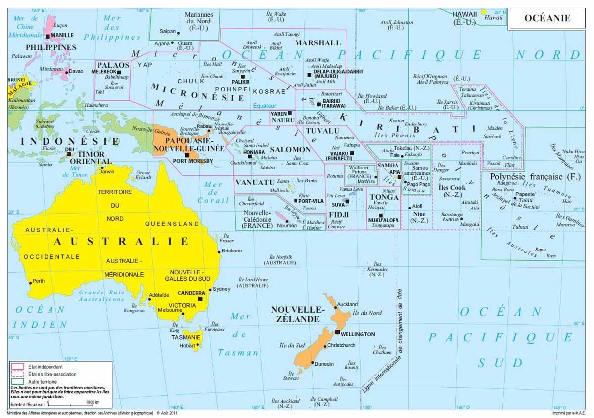 Carte Asie Oceanie.Carte Oceanie Asie Pacifique News