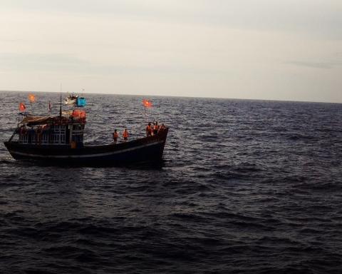 Pêcheurs vietnamiens en Mer de Chine méridionale —©VOTRUNGDUNG/ASIEPACIFIQUEMEDIA