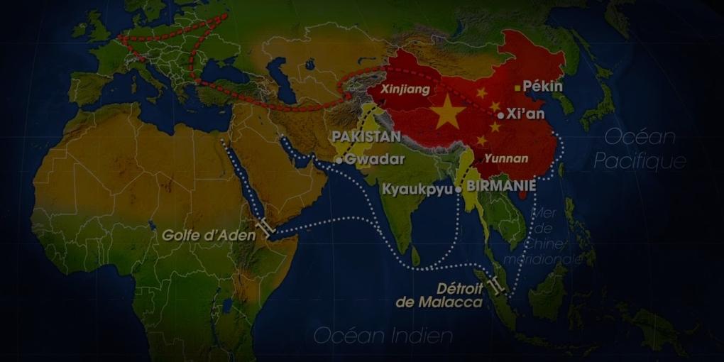 Carte Nouvelles Routes de la Soie — Crédit : Capture d'écran d'ARTE TV