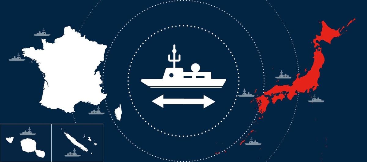 Visuel-Coopération-navale-franco-japonaise — Source : Ambassade du Japon en France.