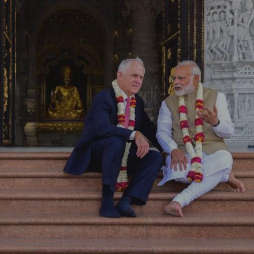 Le premier ministre australien Malcolm Turnbull et le premier ministre indien Modi en 2017.